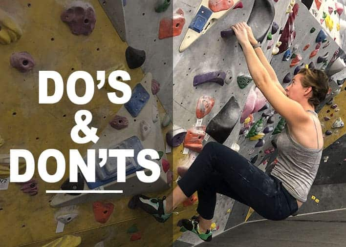Indoor Bouldering: Do's and Don'ts For Beginners