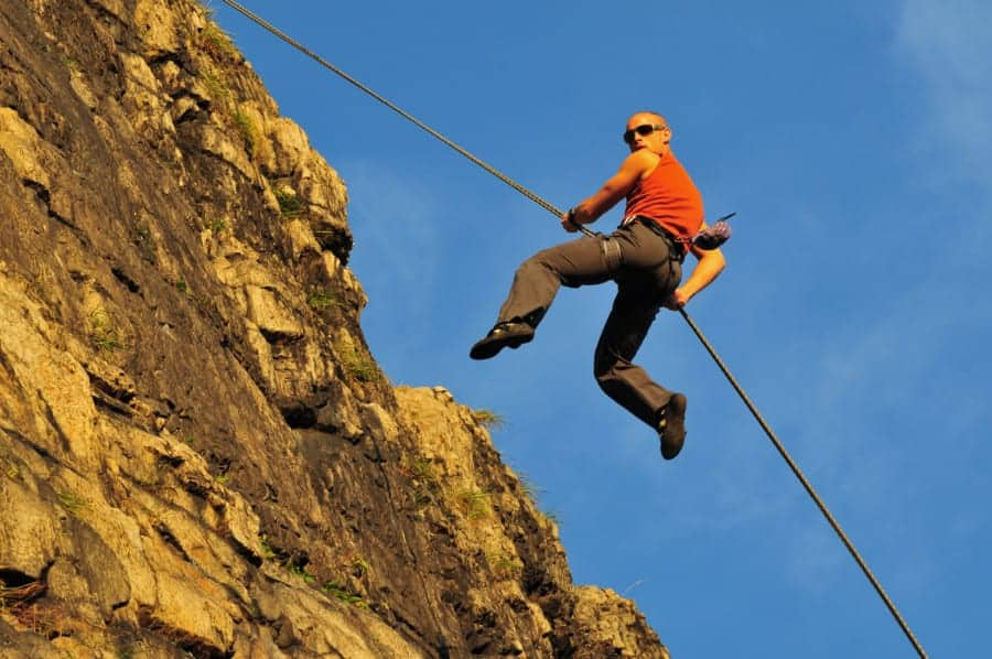 What is the safest way to rappel?